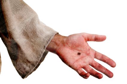 nail-printed hand