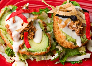fried stuffed avocado