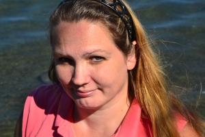 kathy at Cayuga Lake 7 25
