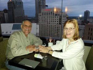 Eagle's Nest revolving restaurant at the Hyatt in Indy 2013
