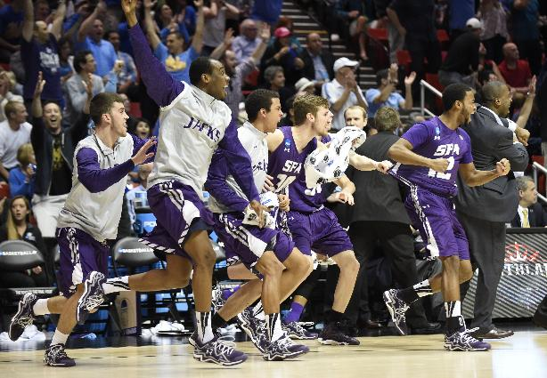 SFA vs VCU 2014 (AP Photo/Denis Poroy)
