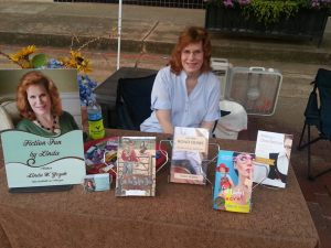 My table at the Blueberry Festival.