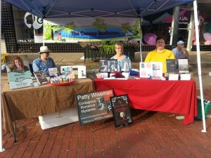 This year, The Canopy Bookstore hosted two other authors, Patty Wiseman and Eddie Hancock. Made the festival fun!