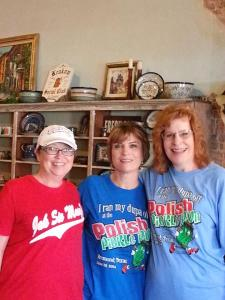 Inside the Texas Slavic and German Warehouse with Billie Stripling (left) and Lisa Yezak (center)