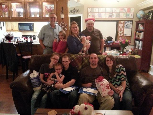 The clan at Christmas. Almost everyone!
