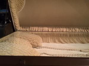 extra large casket interior